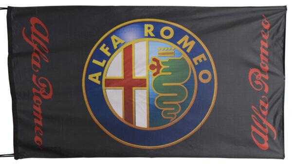 Flag  Alfa Romeo Landscape Black Flag / Banner 5 X 3 Ft (150 x 90 cm) Alfa Romeo
