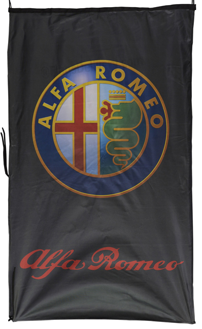 Flag  Alfa Romeo Vertical Black 3D Flag / Banner 5 X 3 Ft (150 x 90 cm) Alfa Romeo