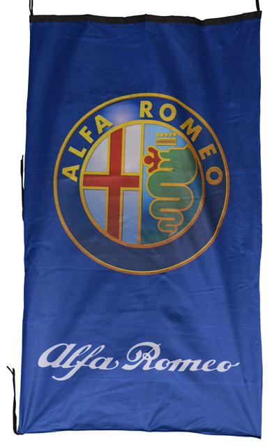 Flag  Alfa Romeo Vertical Blue 3D Flag / Banner 5 X 3 Ft (150 x 90 cm) Alfa Romeo
