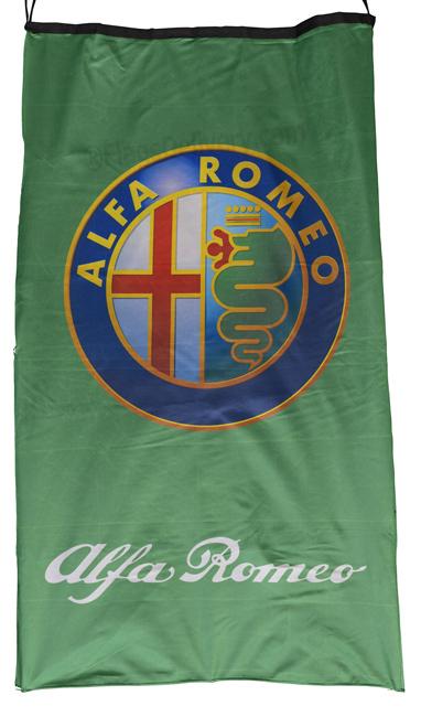 Flag  Alfa Romeo Vertical Green 3D Flag / Banner 5 X 3 Ft (150 x 90 cm) Alfa Romeo