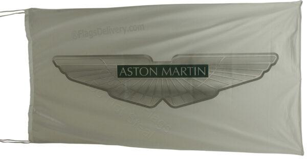 Flag  Aston Martin Landscape White Flag / Banner 5 X 3 Ft (150 x 90 cm) Aston Martin