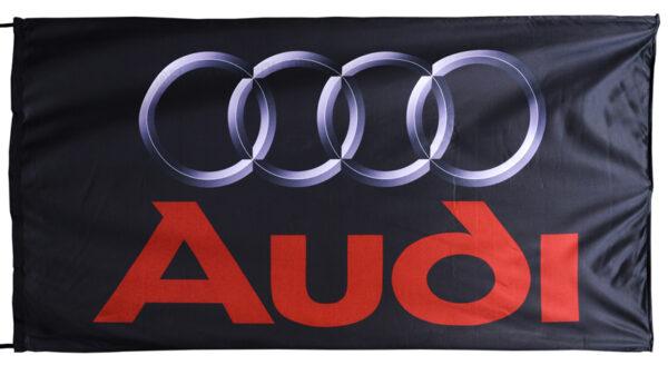 Flag  Audi Landscape Black Big Flag / Banner 5 X 3 Ft (150 x 90 cm) Audi