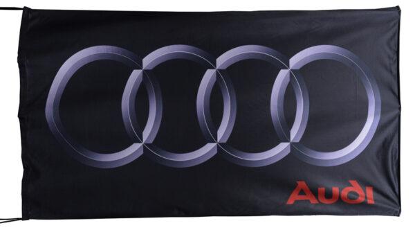 Flag  Audi Landscape Black Small Flag / Banner 5 X 3 Ft (150 x 90 cm) Audi