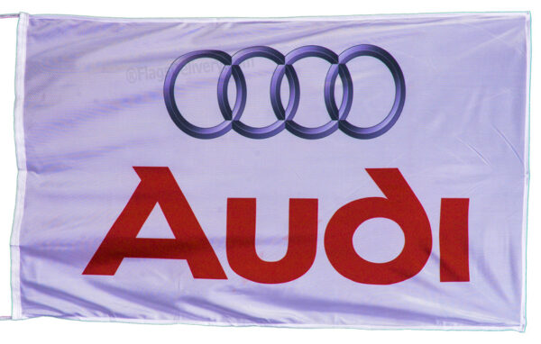 Flag  Audi Landscape White Big Flag / Banner 5 X 3 Ft (150 x 90 cm) Audi
