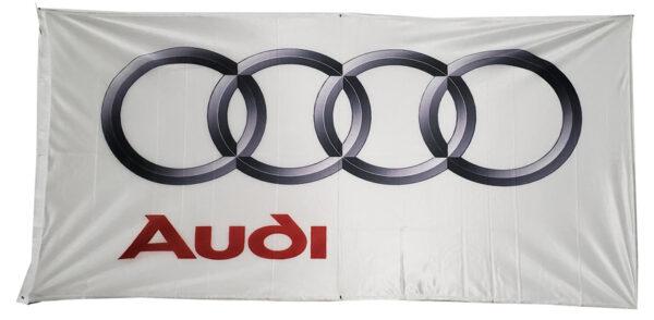 Flag  Audi Landscape White Small Flag / Banner 5 X 3 Ft (150 x 90 cm) Audi