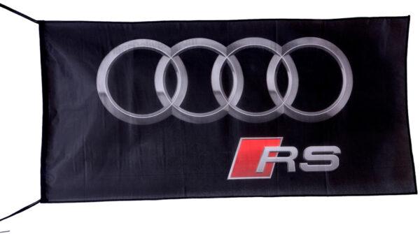 Flag  Audi RS Landscape Black Flag / Banner 5 X 3 Ft (150 x 90 cm) Audi