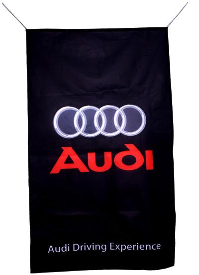 Flag  Audi Vertical Black Flag / Banner 5 X 3 Ft (150 x 90 cm) Audi