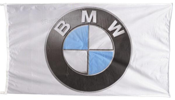 Flag  BMW Landscape White 3D Flag / Banner 5 X 3 Ft (150 x 90 cm) Automotive Flags