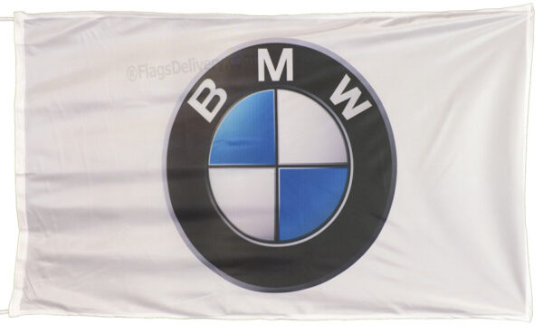 Flag  BMW Landscape White Flag / Banner 5 X 3 Ft (150 x 90 cm) Automotive Flags