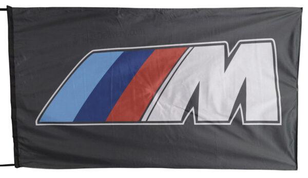 Flag  BMW M Landscape Black Flag / Banner 5 X 3 Ft (150 x 90 cm) Automotive Flags
