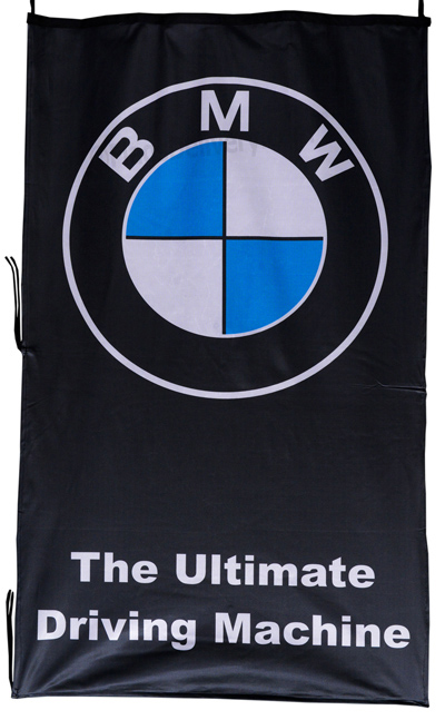 Flag  BMW The Ultimate Driving Machine Vertical Black Flag / Banner 5 X 3 Ft (150 x 90 cm) Automotive Flags