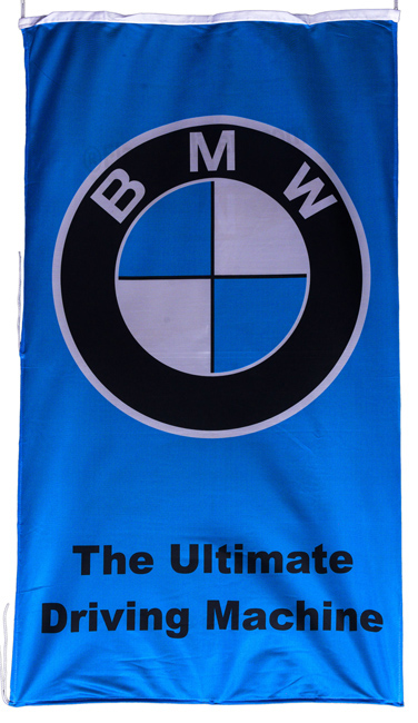 Flag  BMW The Ultimate Driving Machine Vertical Blue / Black Letters Flag / Banner 5 X 3 Ft (150 x 90 cm) Automotive Flags