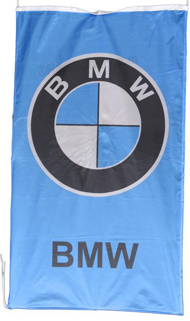 Flag  BMW Vertical Blue / Black Letters Flag / Banner 5 X 3 Ft (150 x 90 cm) Automotive Flags