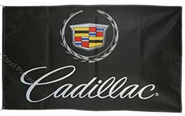 Flag  Cadillac Landscape Black Flag / Banner 5 X 3 Ft (150 x 90 cm) Automotive Flags