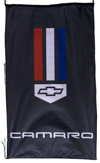 Flag  Chevrolet Camaro Vertical Black Flag / Banner 5 X 3 Ft (150 x 90 cm) Automotive Flags