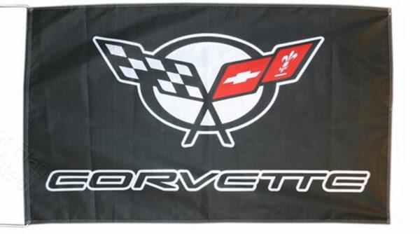 Flag  Chevrolet Corvette C5 Landscape Black Flag / Banner 5 X 3 Ft (150 x 90 cm) Automotive Flags