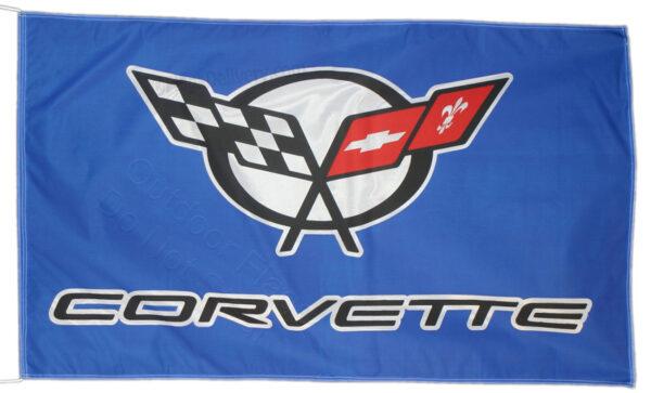 Flag  Chevrolet Corvette C5 Landscape Blue Flag / Banner 5 X 3 Ft (150 x 90 cm) Automotive Flags