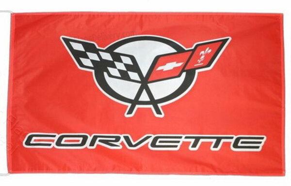 Flag  Chevrolet Corvette C5 Landscape Red Flag / Banner 5 X 3 Ft (150 x 90 cm) Automotive Flags