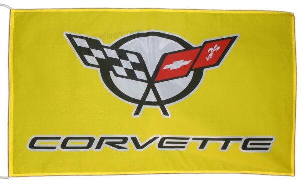 Flag  Chevrolet Corvette C5 Landscape Yellow Flag / Banner 5 X 3 Ft (150 x 90 cm) Automotive Flags