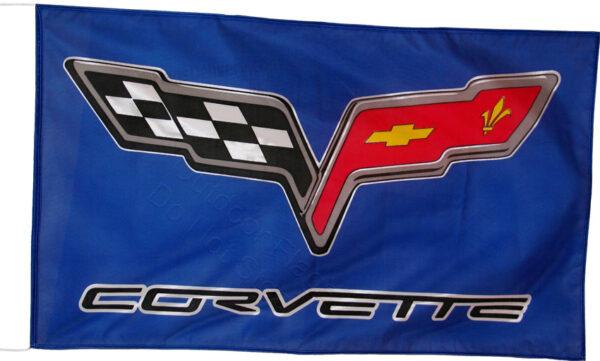 Flag  Chevrolet Corvette C6 Landscape Blue Flag / Banner 5 X 3 Ft (150 x 90 cm) Automotive Flags