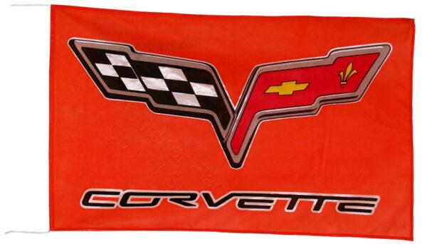 Flag  Chevrolet Corvette C6 Landscape Red Flag / Banner 5 X 3 Ft (150 x 90 cm) Automotive Flags