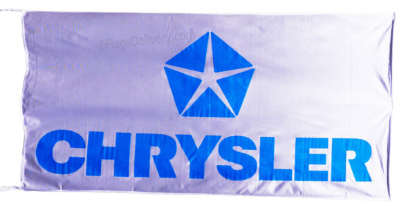 Flag  Chrysler Landscape White Flag / Banner 5 X 3 Ft (150 x 90 cm) Automotive Flags