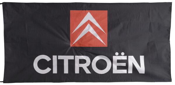 Flag  Citroen Landscape Black Flag / Banner 5 X 3 Ft (150 x 90 cm) Automotive Flags