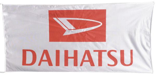 Flag  Daihatsu Landscape White Flag / Banner 5 X 3 Ft (150 x 90 cm) Automotive Flags