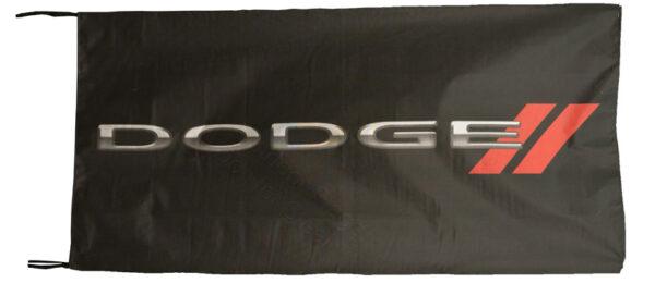 Flag  Dodge New Logo Landscape Black Flag / Banner 5 X 3 Ft (150 x 90 cm) Automotive Flags