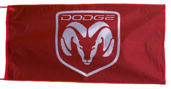 Flag  Dodge Ram Landscape Red Flag / Banner 5 X 3 Ft (150 x 90 cm) Automotive Flags
