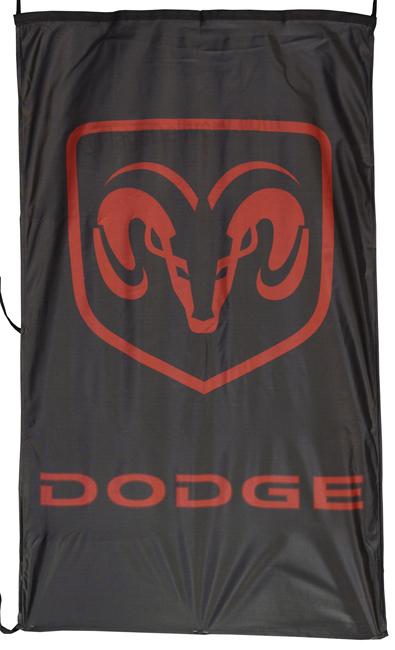 Flag  Dodge Ram Vertical Black Flag / Banner 5 X 3 Ft (150 x 90 cm) Automotive Flags