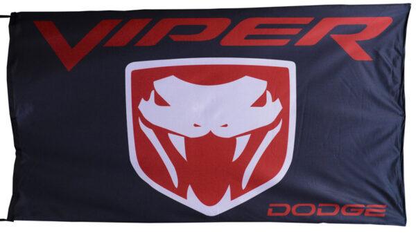 Flag  Dodge Viper Landscape Black Flag / Banner 5 X 3 Ft (150 x 90 cm) Automotive Flags