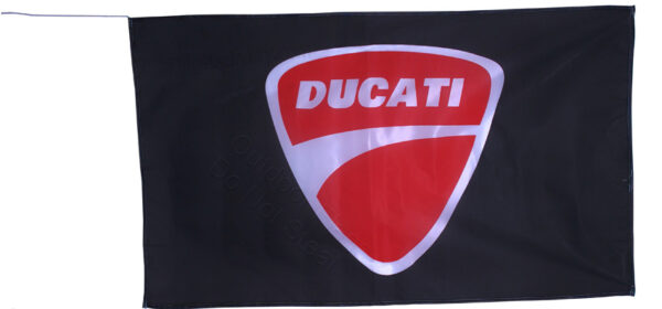 Flag  Ducati Landscape Black Flag / Banner 5 X 3 Ft (150 x 90 cm) Ducati