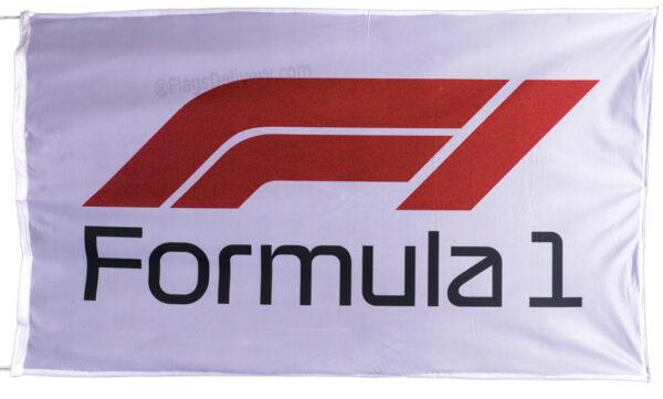 Flag  Formula 1 F1 Landscape White Flag / Banner 5 X 3 Ft (150 x 90 cm) Automotive Flags