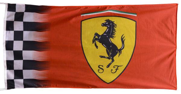 Flag  Ferrari Landscape Red Waves Flag / Banner 5 X 3 Ft (150 x 90 cm) Automotive Flags