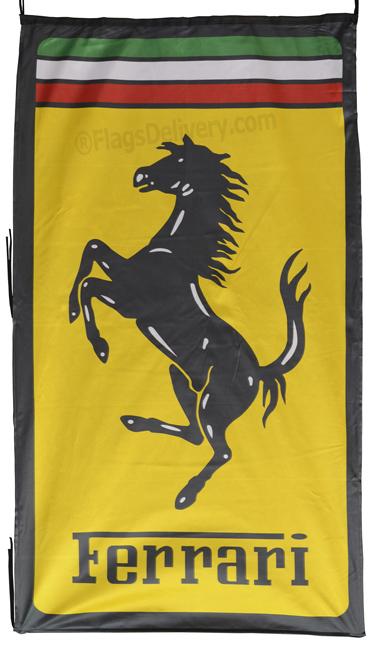 Flag  Ferrari Vertical Italy Flag / Banner 5 X 3 Ft (150 x 90 cm) Automotive Flags