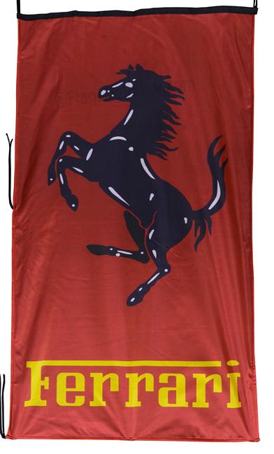 Flag  Ferrari Vertical Red Black Yellow Flag / Banner 5 X 3 Ft (150 x 90 cm) Automotive Flags