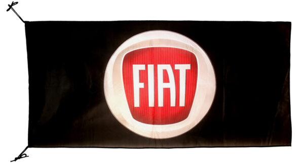 Flag  Fiat Landscape Black 3D Flag / Banner 5 X 3 Ft (150 x 90 cm) Automotive Flags