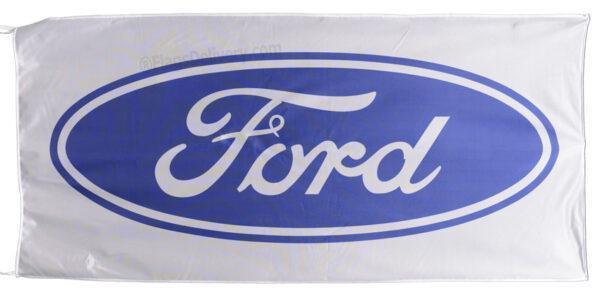 Flag  Ford Landscape White Blue Flag / Banner 5 X 3 Ft (150 x 90 cm) Automotive Flags