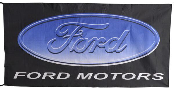 Flag  Ford Motors Landscape Black Flag / Banner 5 X 3 Ft (150 x 90 cm) Automotive Flags