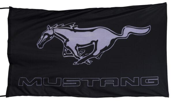 Flag  Ford Mustang Gt Landscape Black Flag / Banner 5 X 3 Ft (150 x 90 cm) Automotive Flags