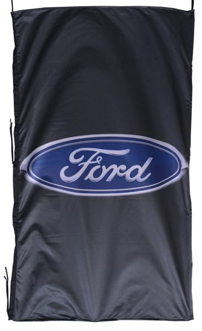 Flag  Ford Vertical Black Flag / Banner 5 X 3 Ft (150 x 90 cm) Automotive Flags