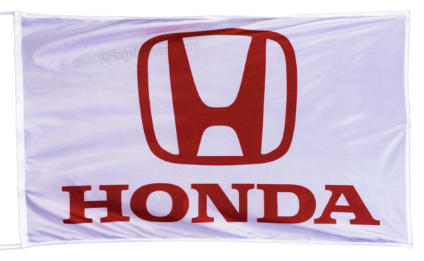 Flag  Honda Auto Landscape White Flag / Banner 5 X 3 Ft (150 x 90 cm) Automotive Flags