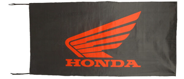Flag  Honda Moto Landscape Black Flag / Banner 5 X 3 Ft (150 x 90 cm) Automotive Flags
