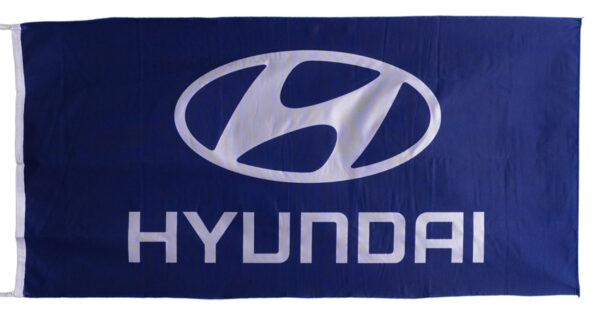 Flag  Hyundai Landscape Blue Flag / Banner 5 X 3 Ft (150 x 90 cm) Automotive Flags