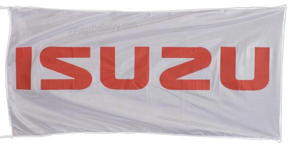 Flag  Isuzu Landscape White Flag / Banner 5 X 3 Ft (150 x 90 cm) Automotive Flags