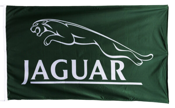 Flag  Jaguar Landscape Green Flag / Banner 5 X 3 Ft (150 x 90 cm) Automotive Flags