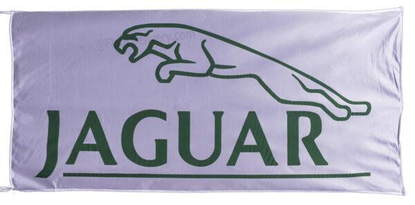 Flag  Jaguar Landscape White Flag / Banner 5 X 3 Ft (150 x 90 cm) Automotive Flags