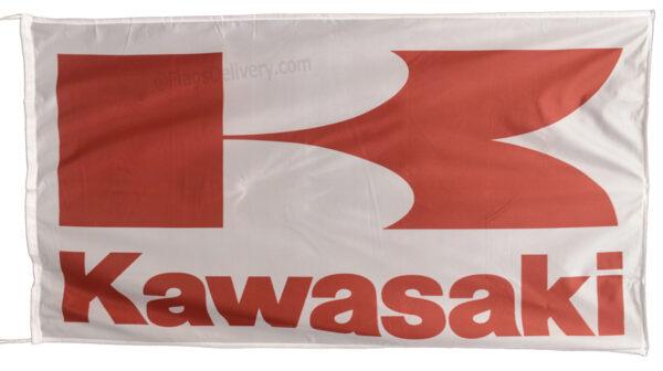 Flag  Kawasaki Landscape White Red Flag / Banner 5 X 3 Ft (150 x 90 cm) Kawasaki