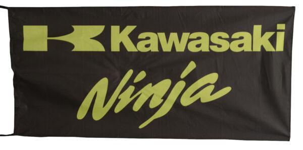 Flag  Kawasaki Ninja Landscape Black Flag / Banner 5 X 3 Ft (150 x 90 cm) Kawasaki